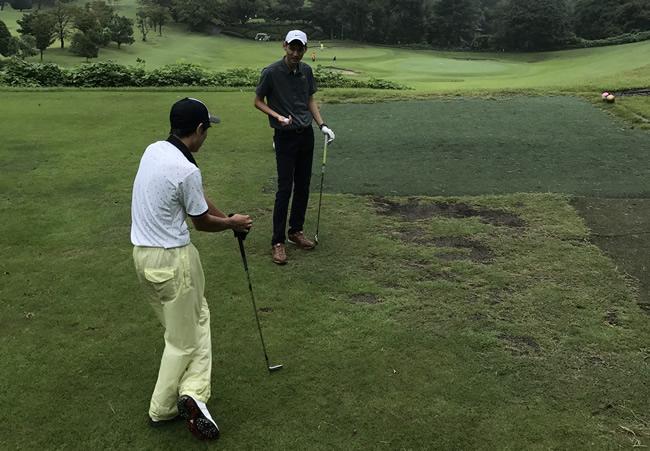 ゴルフコースでの実習